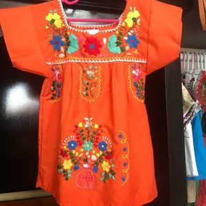Mexican Embroidered Dress for Baby Size 12 Months